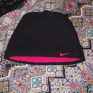 Nike Hot Pink & Black winter beanie